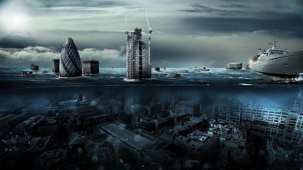 london underwater climate change