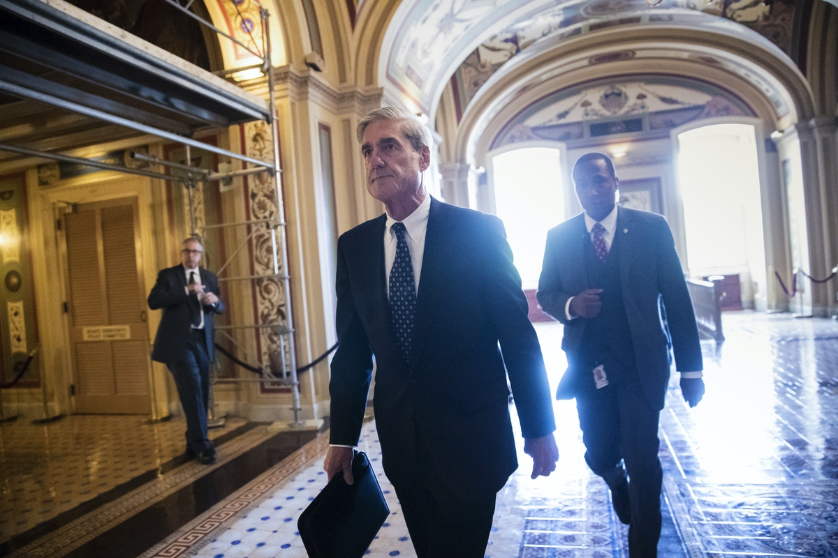Special Counsel Robert Mueller departs the Capitol after a closed-door meeting with members of the Senate Judiciary Committee about Russian meddling in the election and possible connection to the Trump campaign, in Washington, Wednesday, June 21, 2017. (AP Photo/J. Scott Applewhite)