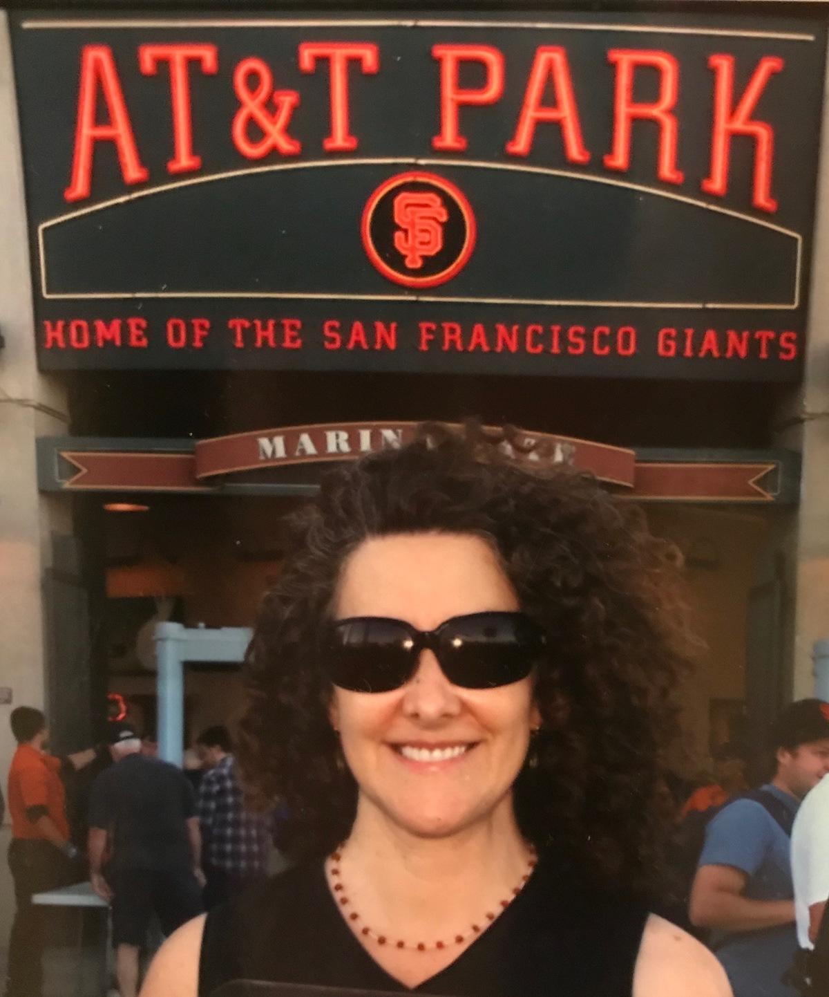 (Nancy Levine (me) at San Francisco Giants game, 2016)