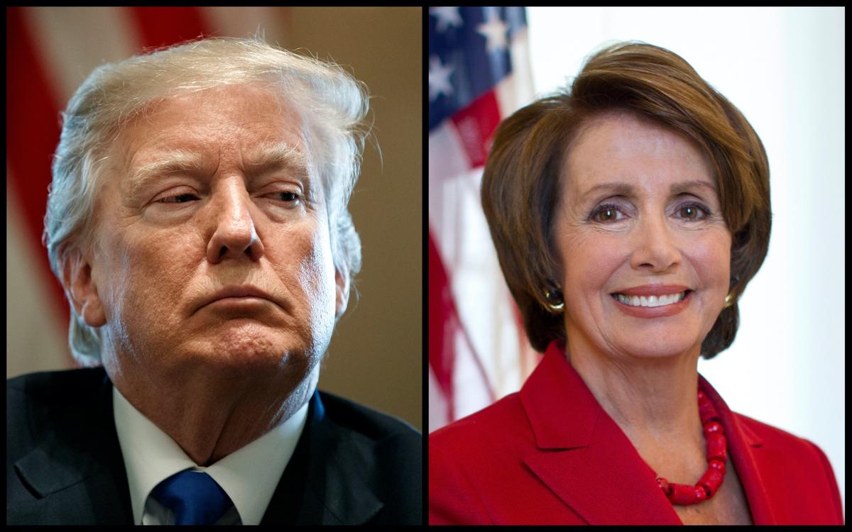 President Donald Trump and Speaker of the House Nancy Pelosi (AP)